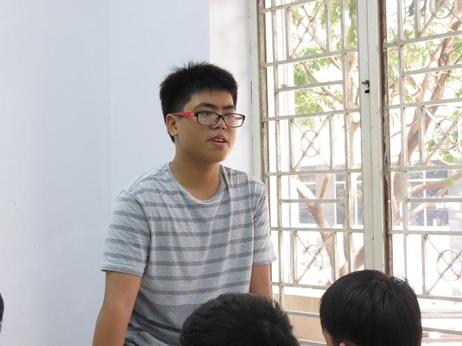 Bạn Dương Hoàn Vũ đã liệt kê chính xác tên các phần của bài thi. Ngạc nhiên chưa!!!