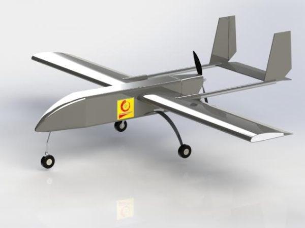 Mô hình máy bay không người lái của nhóm sinh viên Đại học Công nghiệp Hà Nội. (Ảnh: Nhân vật cung cấp)
