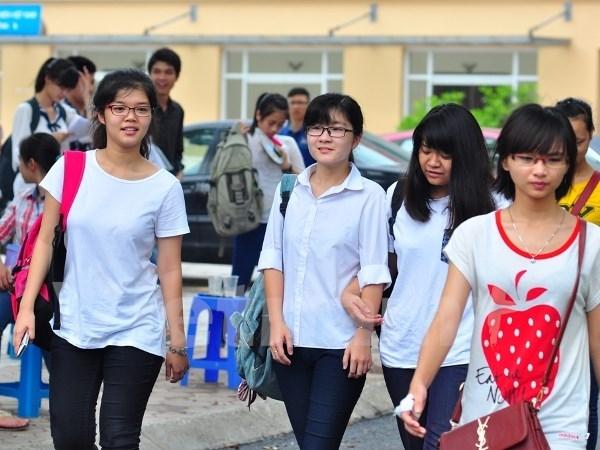 Thí sinh dự thi tuyển sinh đại học, cao đẳng năm 2014. (Ảnh: Xuân Mai/Vietnam+)