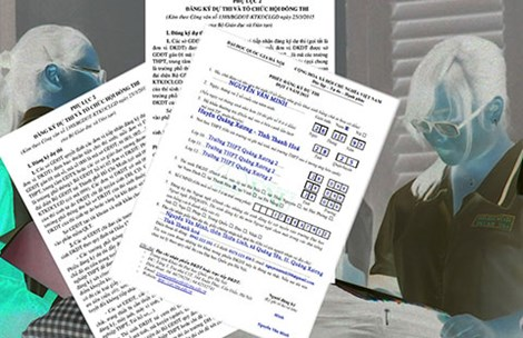 Học sinh cần được tư vấn kỹ trước khi điền hồ sơ ĐKDT THPT quốc gia. Ảnh: HTD