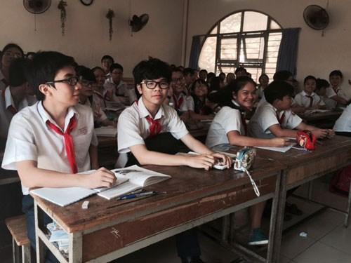 Học sinh lớp 9 Trường THCS Trần văn Ơn (Q.1) - Ảnh: Thanh Hiếu