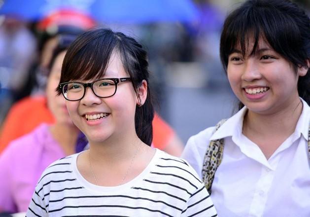 Thí sinh sau giờ thi THPT quốc gia 2015. Ảnh: Anh Tuấn.