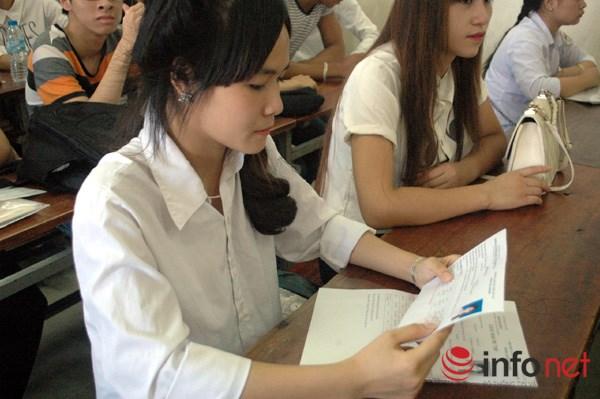 Thí sinh tham gia kỳ thi THPT Quốc gia năm 2016